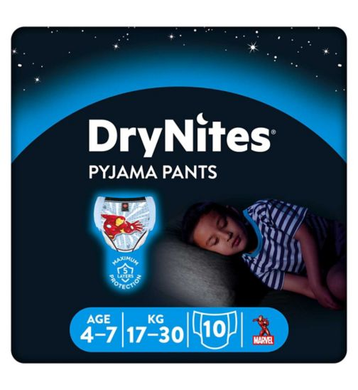 Huggies DryNites Pyjama Bed Wetting Pants Boys 4-7 Years - 10 Pants