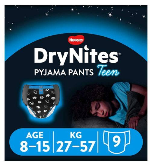 Huggies DryNites Pyjama Bed Wetting Pants Boys 8-15 Years - 9 Pants