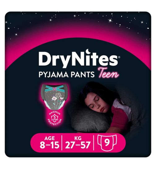 Huggies DryNites® Pyjama Bed Wetting Pants Girls 8-15 Years -  9 Pants