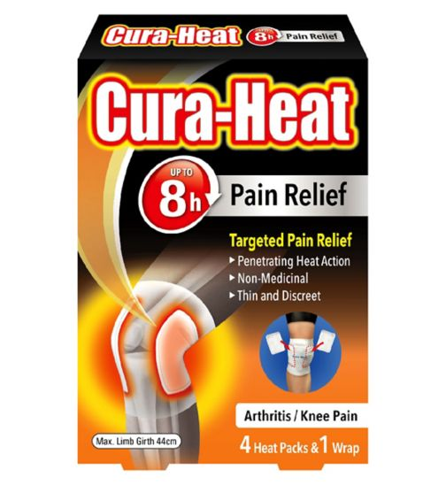 Cura-Heat Arthritis Pain Knee - 4 pack