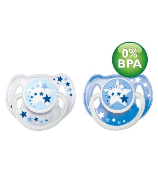 Philips AVENT Silicone Soother Night Time - 6-18 Months
