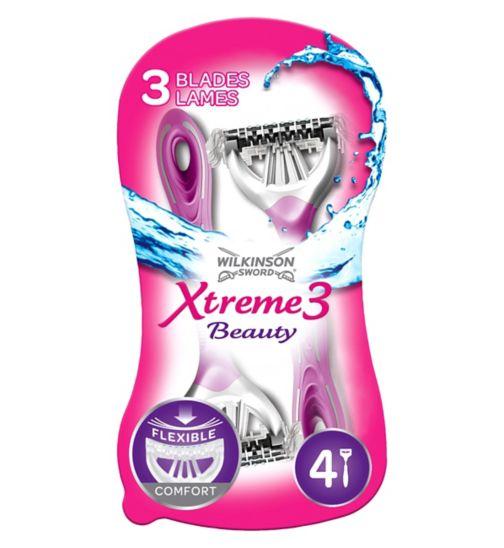 Wilkinson Sword Xtreme 3 Beauty Disposable Razors 4s
