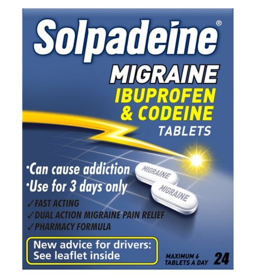 Solpadeine Migraine Ibuprofen & Codeine Tablets (24)
