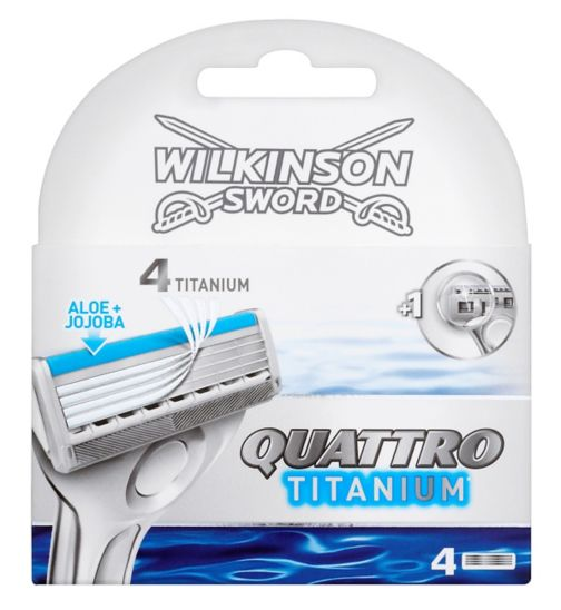 Wilkinson Sword Quattro Titanium Replacement Blades 4 Pack