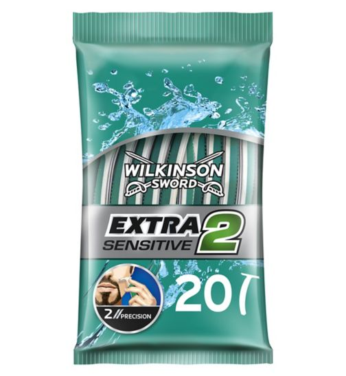 <p>Wilkinson Sword Extra 2 Disposable Razors- Sensitive 20 Pack</p>