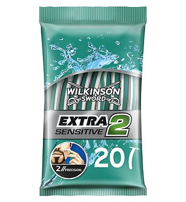 Wilkinson Sword Extra 2 Disposable Razors- Sensitive 20 Pack