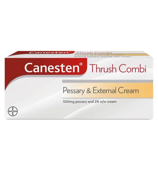 Canesten Thrush Combi 500mg Pessary & 2% External Cream
