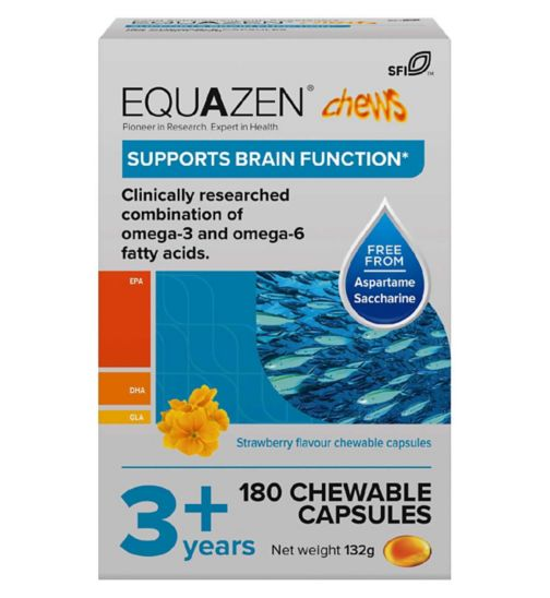 Equazen Children's Chews - 180 Strawberry Flavoured Capsules