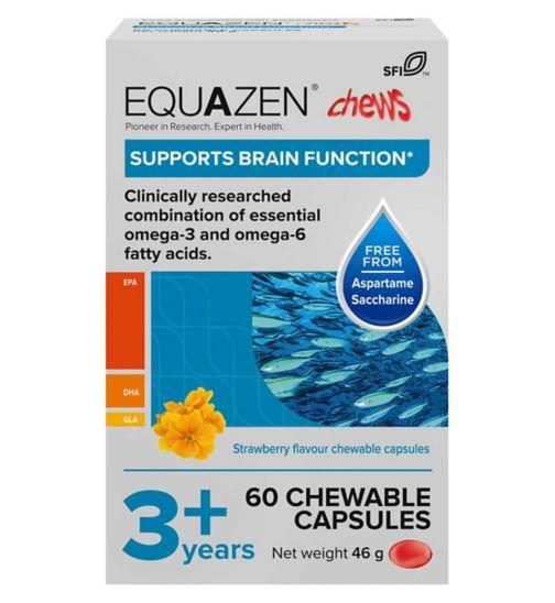 Equazen Capsules - Omega 3 & Omega 6 Supplement - 60 Strawberry Flavoured Chews