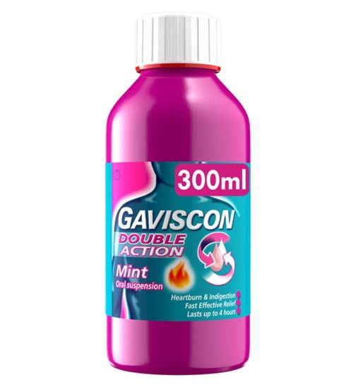 Gaviscon Double Action Oral Suspension Mint - 300ml