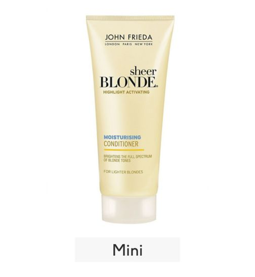 <p>John Frieda Sheer Blonde travel size Conditioner Platinum to Champagne 50ml <br />&nbsp;</p>