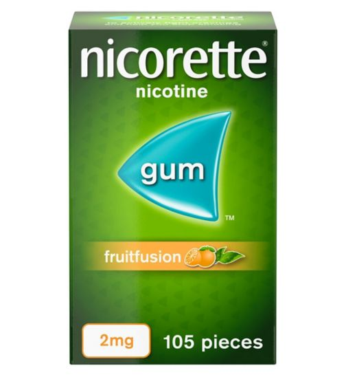 <p>Nicorette FruitFusion 2mg Gum - 105 pieces</p>