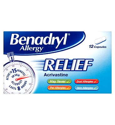 Benadryl Allergy Relief - 12 Capsules