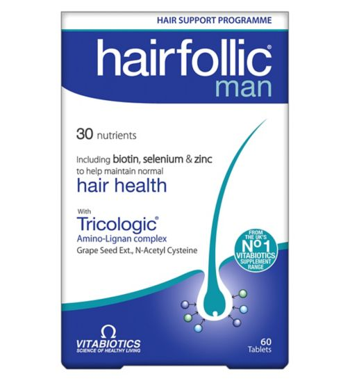 Vitabiotics Hairfollic Man - 60 Tablets