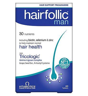 Vitabiotics Hairfollic Man 60 Bio-Active Tablets