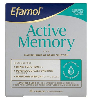 Efamol Brain. ACTIVE MEMORY. 30 capsules