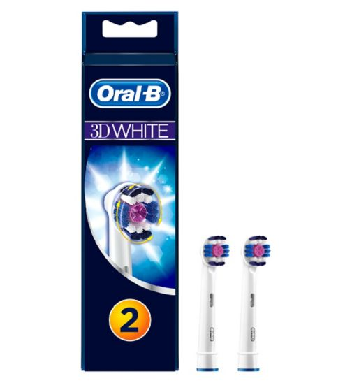 Oral-B 3D White Electric Toothbrush Heads - 2 Pack