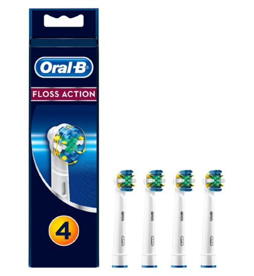 Oral-B Floss Action Electric Toothbrush Heads 4 pack