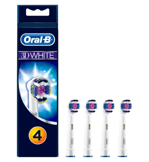 Oral-B 3D White Electric Toothbrush Heads - 4 Pack