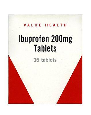 Value Health Ibuprofen 200mg - 16 Tablets