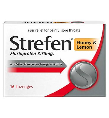 Strefen Lemon & Honey Lozenges 16s