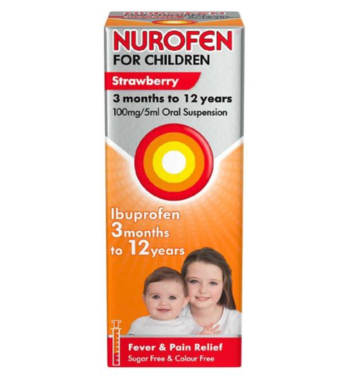Nurofen for Children Strawberry Oral Suspension -  200ml