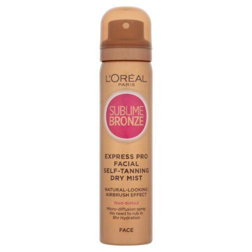 L'Oreal Sublime Bronze Airbrush-Effect Self-tanning Dry Mist for Face - 75ml