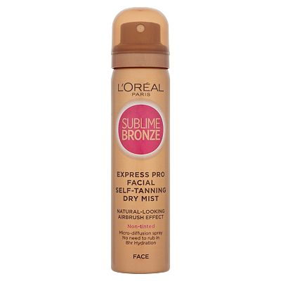 LOreal Sublime Bronze AirbrushEffect Selftanning Dry Mist for Face  75ml