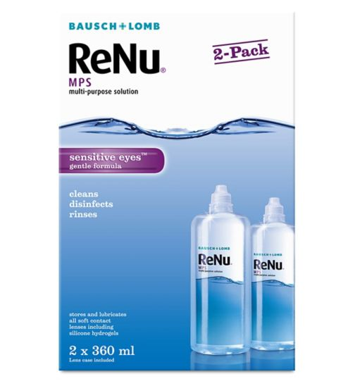 Bausch & Lomb Renu Multipurpose Solution 2 x 360ml