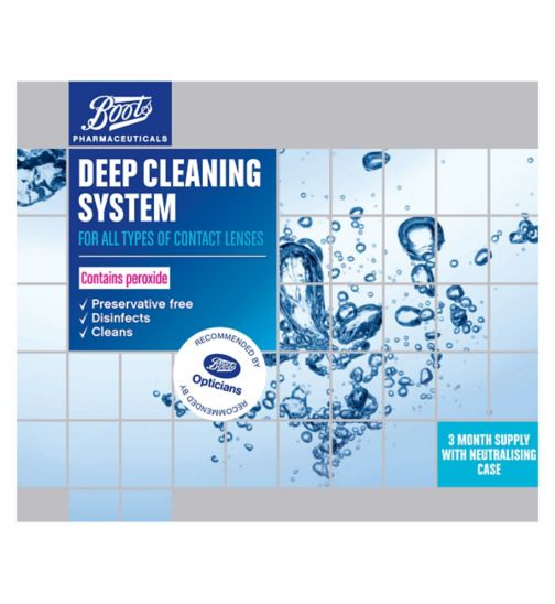Boots Preservative Free deep cleaning system - 3 x 360ml and 3 x neutralising case