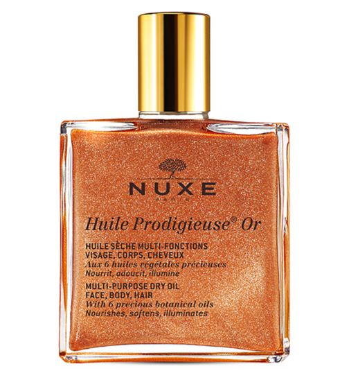 Nuxe Huile Prodigieuse 50 ml - Shimmering Multi-purpose dry oil for face body and hair
