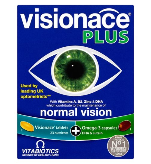 Vitabiotics Visionace Plus Omega-3 - 56 Tablets