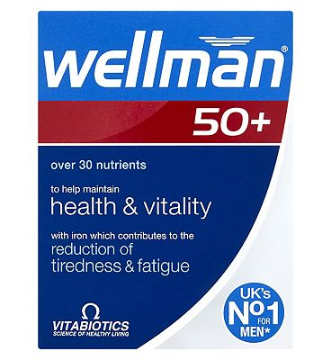 Vitabiotics Wellman 50+ 30 One-a-Day Tablets