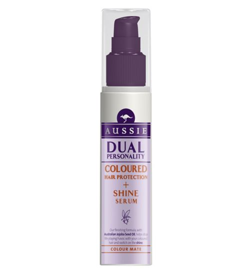Aussie Dual Personality Styling Shine & Coloured Hair Protection Serum 75ml