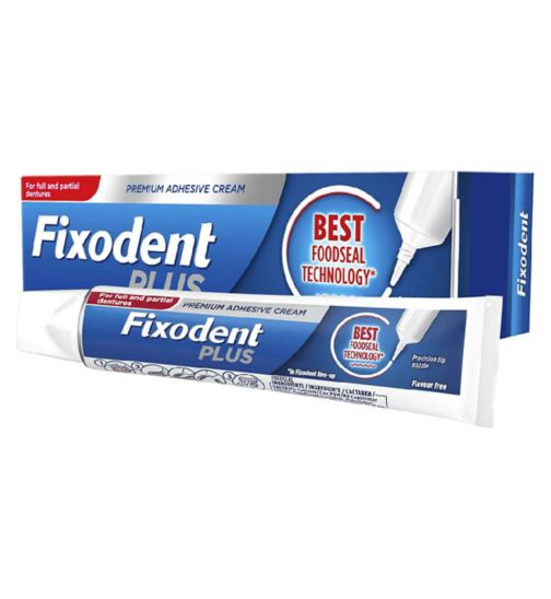 Fixodent Plus Foodseal Denture Adhesive 40g