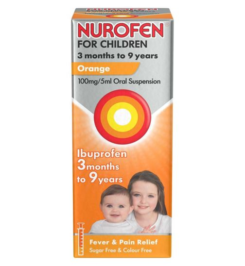 Nurofen For Children 3 months to 9 years Orange (100ml)