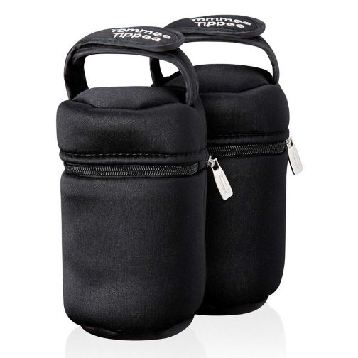 Tommee Tippee Closer to Nature Insulated Baby Feeding Bottle Carriers 2 Pack
