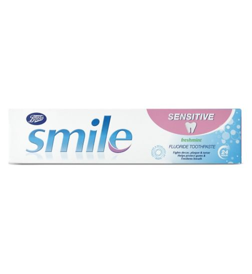 <p>Boots Smile Sensitive Freshmint Toothpaste 100ml</p>