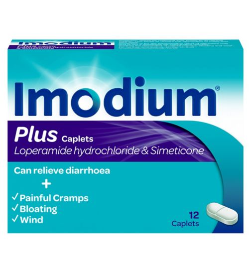 Imodium Plus - 12 Caplets