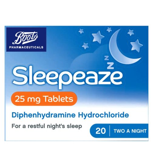Boots Sleepeaze Tablets 25 mg  - 20 tablets