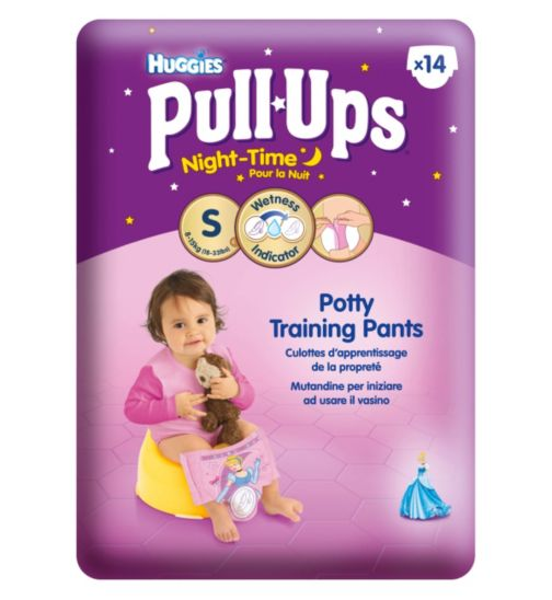 Huggies Pull-Ups Night Time Girls Size Small Convenience Pack - 14 Pants