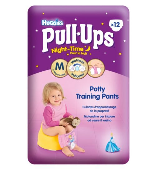 Huggies Pull-Ups Disney Princesses Night-Time Girl Size 5 Potty Training Pants -  1 x 12 Pants