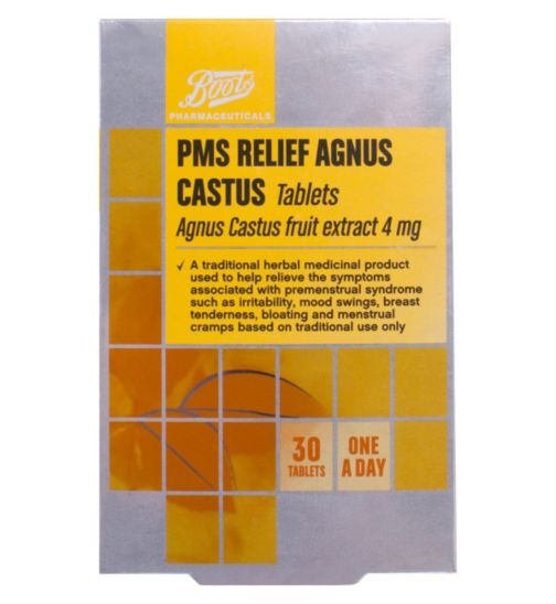 Boots PMS Relief Agnus Castus Fruit Extract 4mg - 30 Tablets