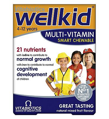 Vitabiotics WellKid Smart Chewable Multivitamins - 30 Tablets