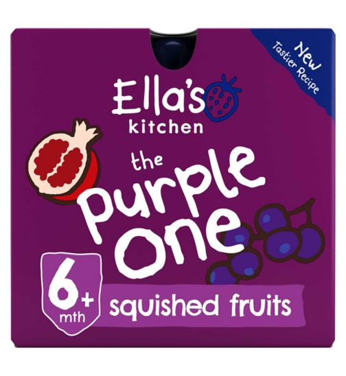 Ella's Kitchen Organic The Purple One Multipack Pouch 6+ Mths 5 x 90g