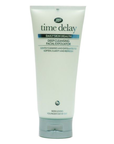 Boots Time Delay Daily Skin Health Deep Cleansing Facial Exfoliator 100ml
