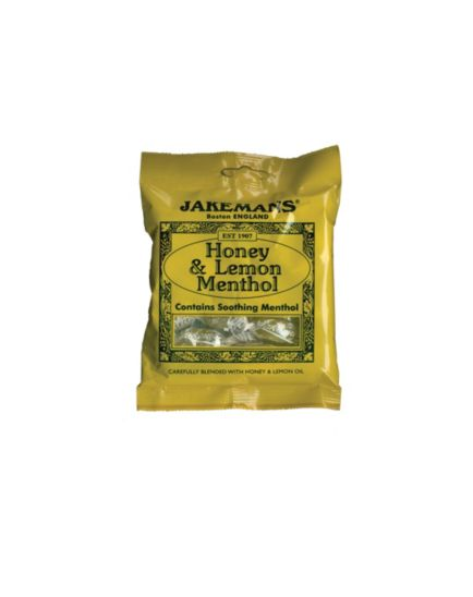 Jakemans honey & lemon menthol sweets - 100g