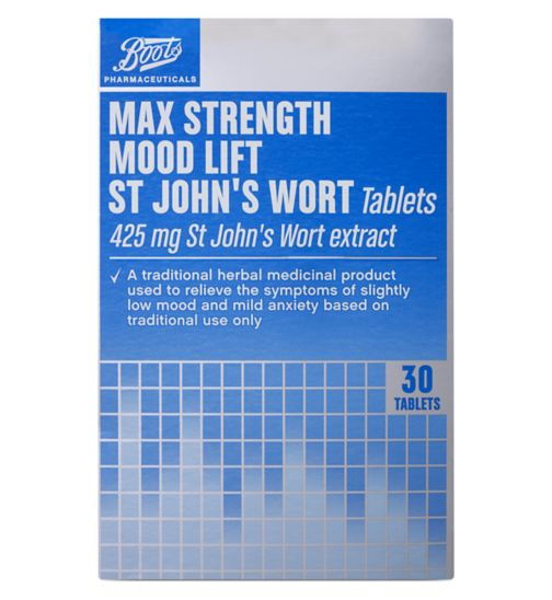 Boots Mood Lift Max Strength St John's Wort Tablets - 30 tablets