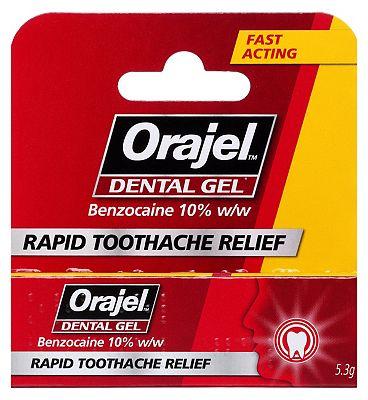 Orajel Dental Gel for toothache - 5.3g
