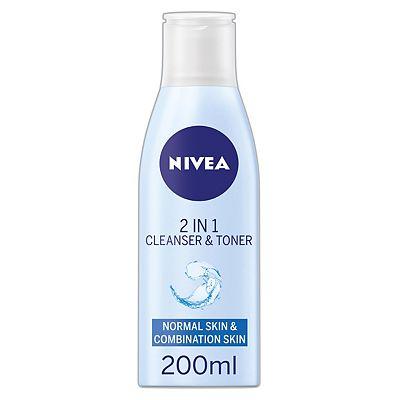 NIVEA 2-in-1 Cleanser & Toner, 200 ml